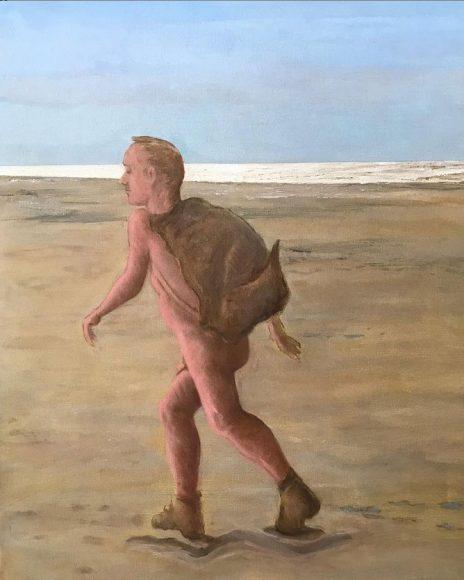 """Wereld na Covid-19"", 2020, canvas/olieverf (00 x 00)"
